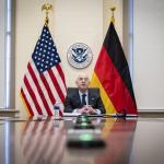 Image cover photo: DHS Secretary Alejandro Mayorkas Call With Horst Seehofer (3)