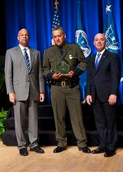 On October 23, 2014 Secretary Jeh Johnson awarded the Secretary's Award for Valor to Ramon Garzza,  U.S. Customs and Border Protection, for exhibiting extraordinary valor and great courage in saving multiple lives during a major flood.