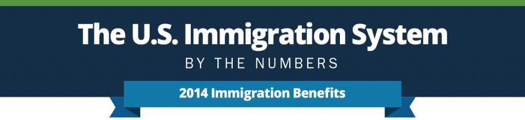 The U.S. Immigration System by the numbers. 2014 Immigration Benefits Infographic.