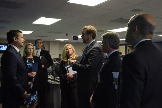 Secretary Johnson hosts Reps. McCaul and Ratcliffe at DHS' NCCIC