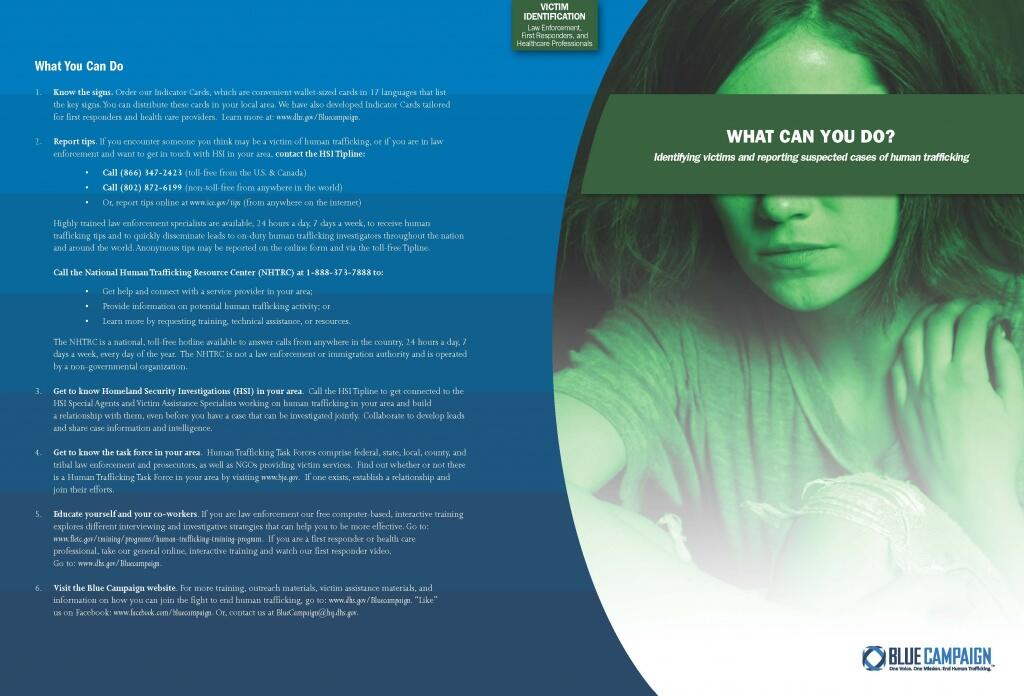 Victim Identification Pamphlet for Law Enforcement, First Responders