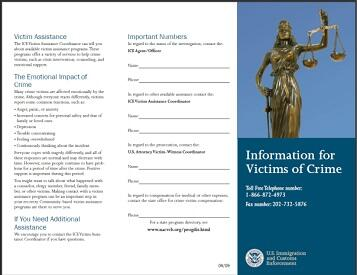 Information for Victims of Crimes Pamphlet Cover Image