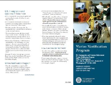 Victim Notification Program Pamphlet Cover Image