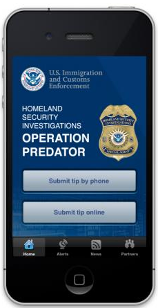 ICE HSI mobile application