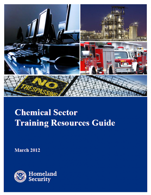 Chemical Sector Training Resources Guide Cover