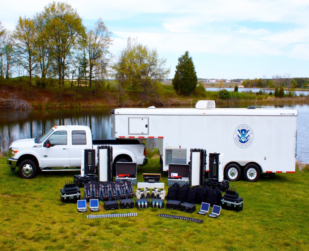 Mobile Detection Deployment Units contain radiation detection equipment for approximately 40 emergency responders, housed in a mobile trailer package.