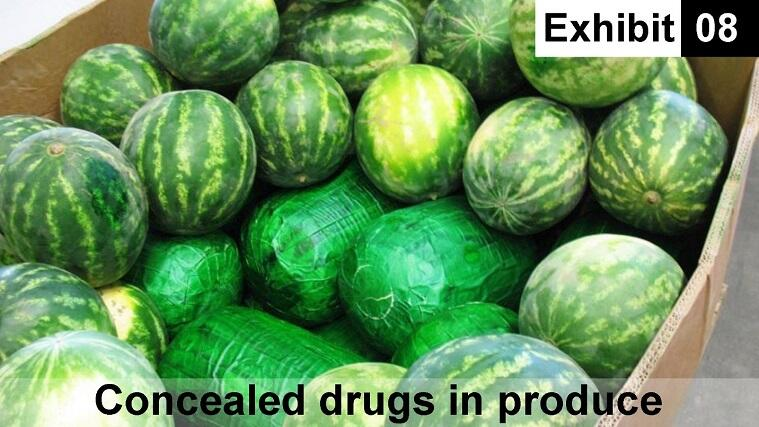 Exhibit 08: Concealed drugs in produce
