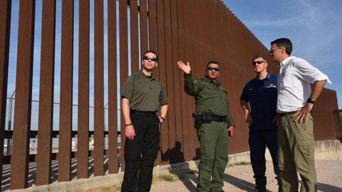 Representative Kevin Yoder (R-KS), Chairman of the Homeland Security Appropriations Committee, met with DHS personnel at the US-Mexico border on June 6, 2018.
