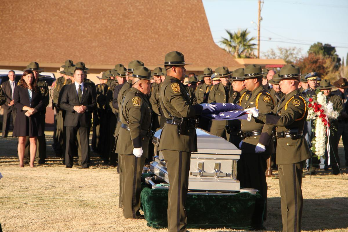 Border Patrol Agent Martinez laid to rest