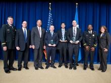USSS Officers receiving award from Secretary Johnson