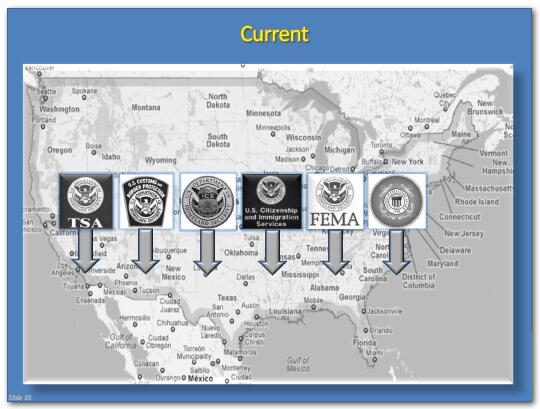 major component agencies of the dhs essay This massacre hit the center of our government and blasted away part of our   today, all us security agencies share the same watch lists and threat  these  were deployed at pedestrian gathering places in 20 major cities to collect air  samples  tom ridge, america's first secretary of homeland security, in his  office in.