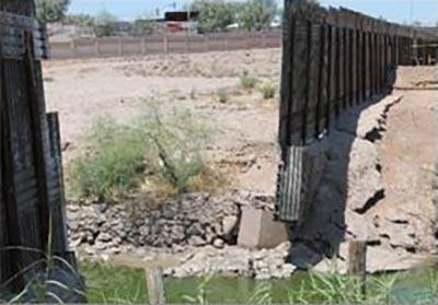 El Centro Sector border before construction of steel bollard wall