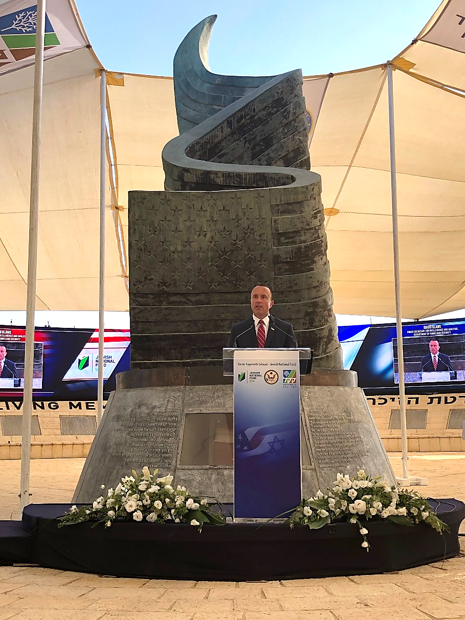 Department of Homeland Security Under Secretary for Intelligence and Analysis (I&A) and Chief Intelligence Officer David J. Glawe traveled to Jerusalem for the U.S. Embassy 9/11 ceremony on September 11, 2019 where he provided closing remarks.