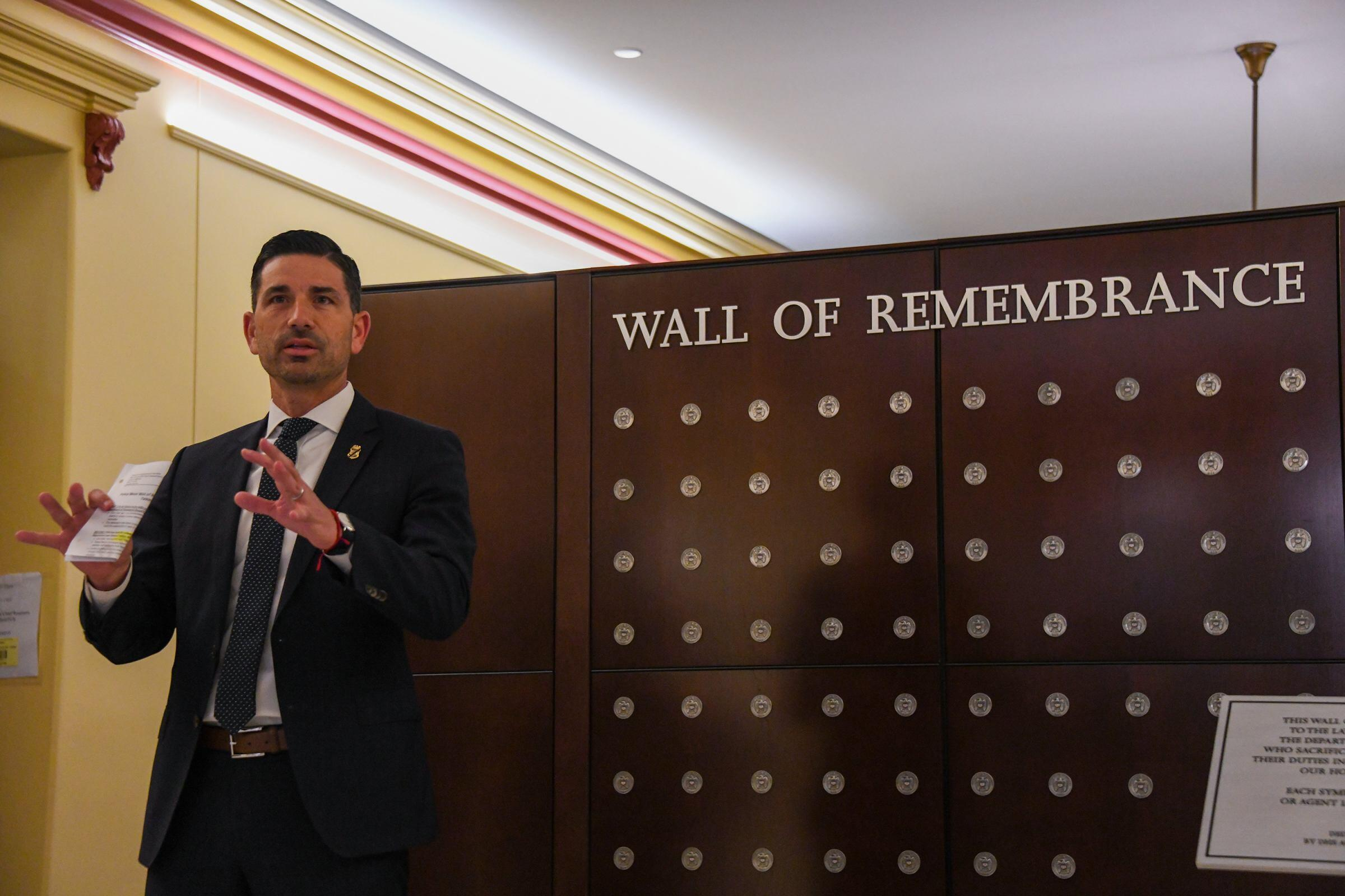 Acting DHS Secretary Chad F. Wolf dedicated a new DHS Wall of Remembrance at DHS headquarters.