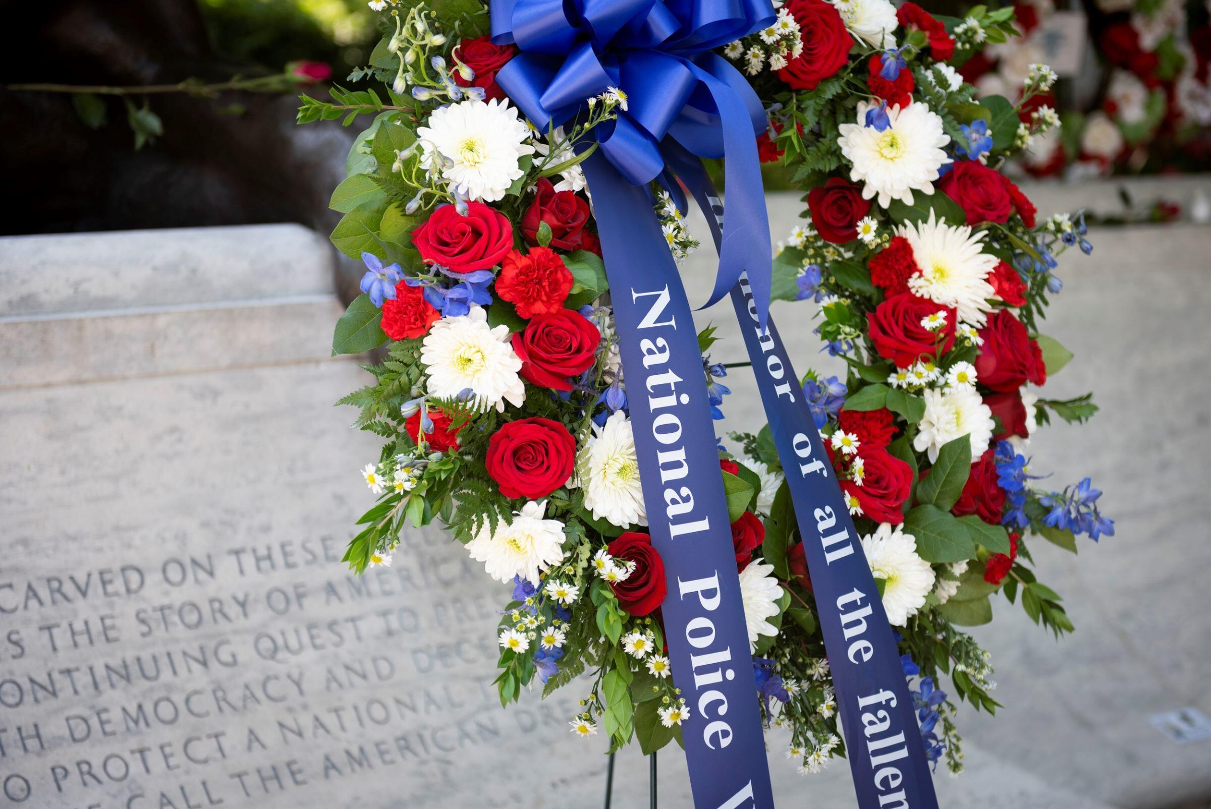 wreath at the National Law Enforcement Officers Memorial