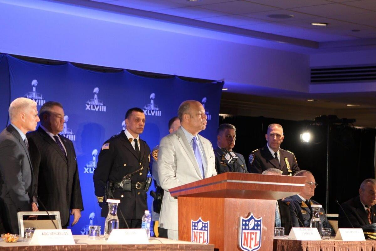 "DHS is also continuing our partnership with the NFL through the ""If You See Something, Say Something™"" public awareness campaign, first launched at Super Bowl XLV, to help keep fans, employees and players safe."