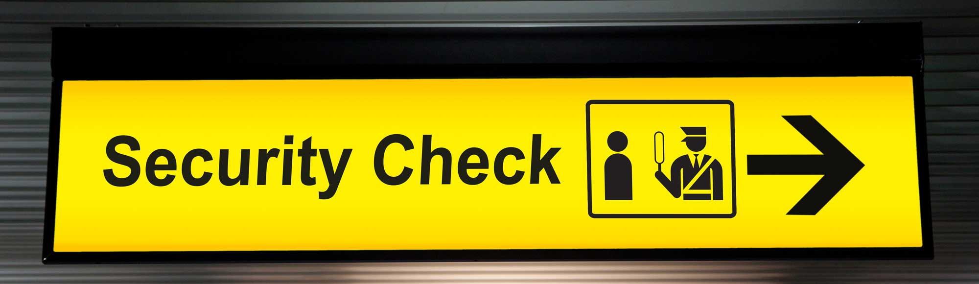 Airport Checkin Sign