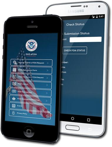 eFOIA Mobile App | Homeland Security