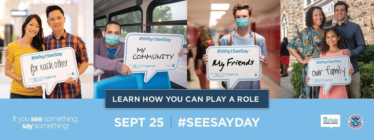 Join DHS for #SeeSayDay on September 25 and Protect Your Community