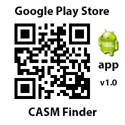 Google Play Store. App v.10. CASM Finder