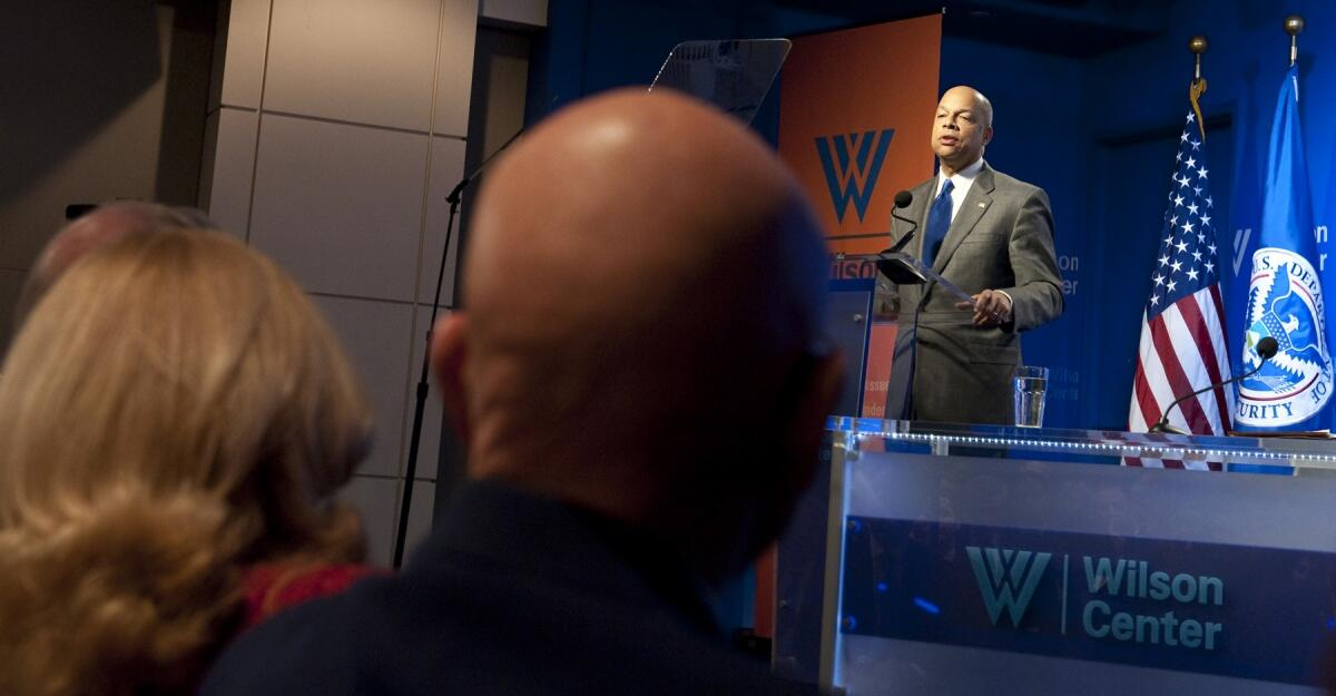 Secretary Johnson delivers remarks at the Wilson Center.