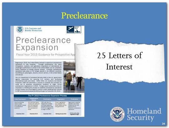Several weeks ago TSA made further enhancements, and we are reviewing whether more is necessary.