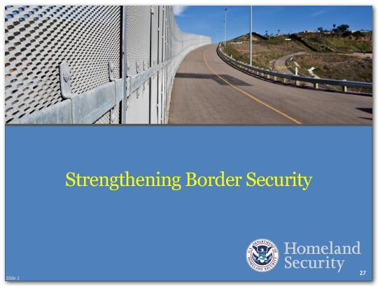 We are taking a number of steps to further secure the border.