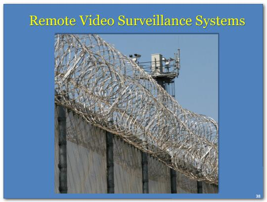 Remote video surveillance systems.