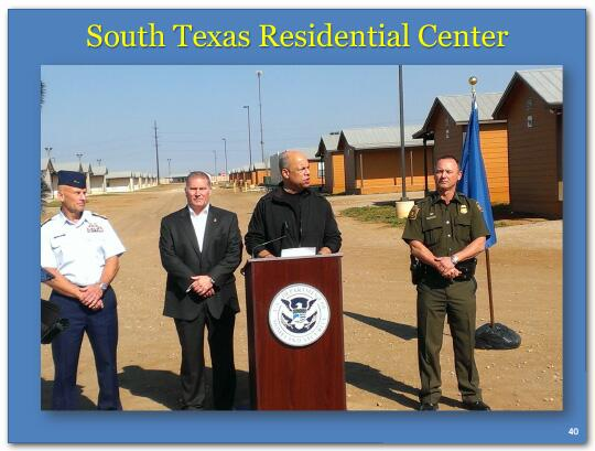 Jay Johnson speaking at the South Texas Residential Center.