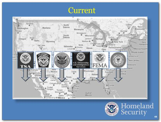 We are putting to use, in a combined and coordinated way, the assets and personnel of CBP, ICE, CIS, the Coast Guard, toward the goal of border security.