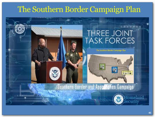 We have established three new Department task forces, each headed by a senior official of this Department, to direct the resources of CBP, ICE, CIS and the Coast Guard in three discrete areas.