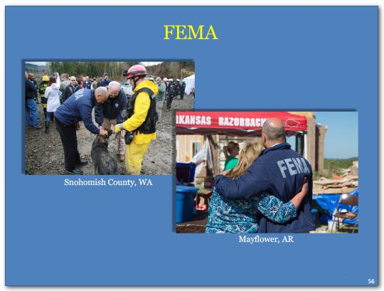 FEMA has become the premier emergency management agency in the country and has earned the confidence of federal, state and 