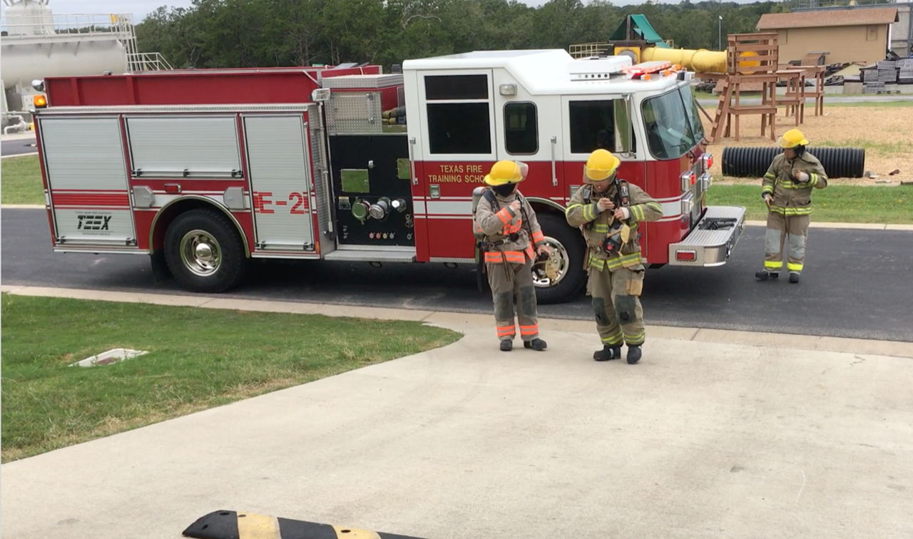 Firefighters respond to a call during the SCITI Labs DTE.  Their feedback on the SCITI Labs technologies will inform future technology development decisions.