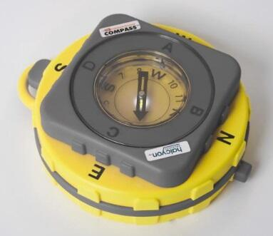 FireGround Compass® yellow and grey compass