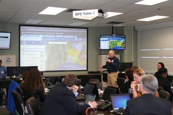 The MARP Tool being used during the New Orleans Flood Resilience Experiment in January 2017.