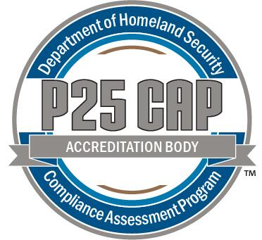 Department of Homeland Security Compliance Assessment Program P25 CAP Accreditation Body logo
