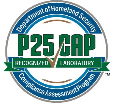 Department of Homeland Security Compliance Assessment Program P25 CAP Recognized Laboratory logo