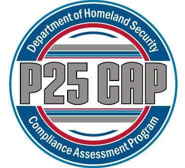 Department of Homeland Security Project 25 Compliance Assessment Program (P25 CAP) logo