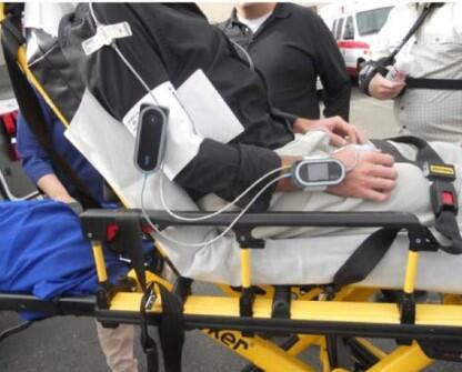 The ViSi Mobile System on a patient's arm