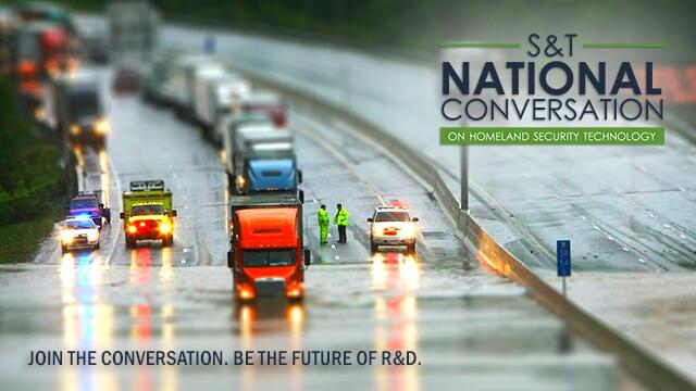 picture of traffic driving through flooded interstate. Text reads: Join the conversation. Be the future of R&D.