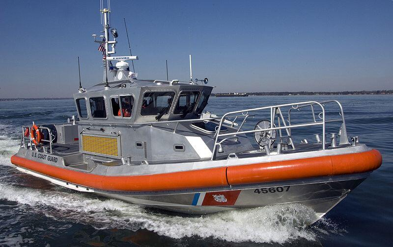 A Coast Guard response boat was used for the AnCOR decontamination test in Florida.