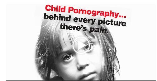 An image of a little girl. Child Pornography...behind every picture there's pain.