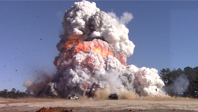 Detonation of an explosion