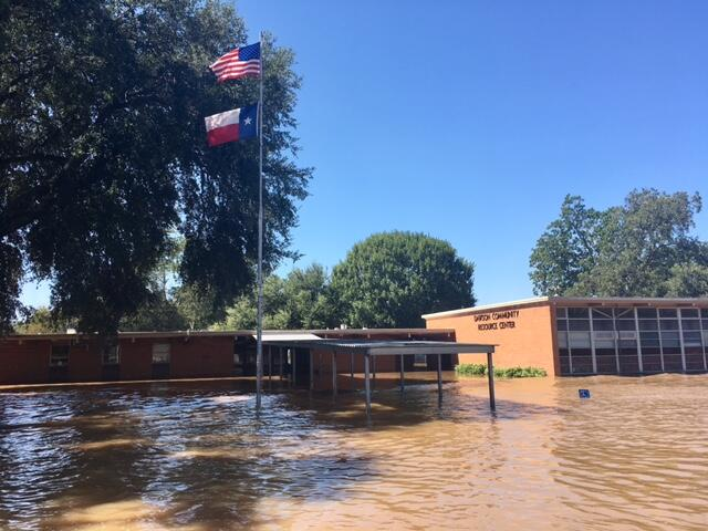 School that is flooded