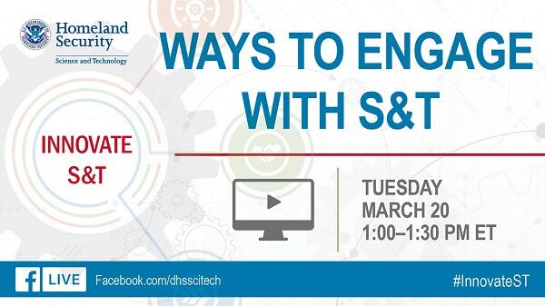 Ways to Engage with S&T. Innovate S&T. Tuesday March 20 1-1:30pm