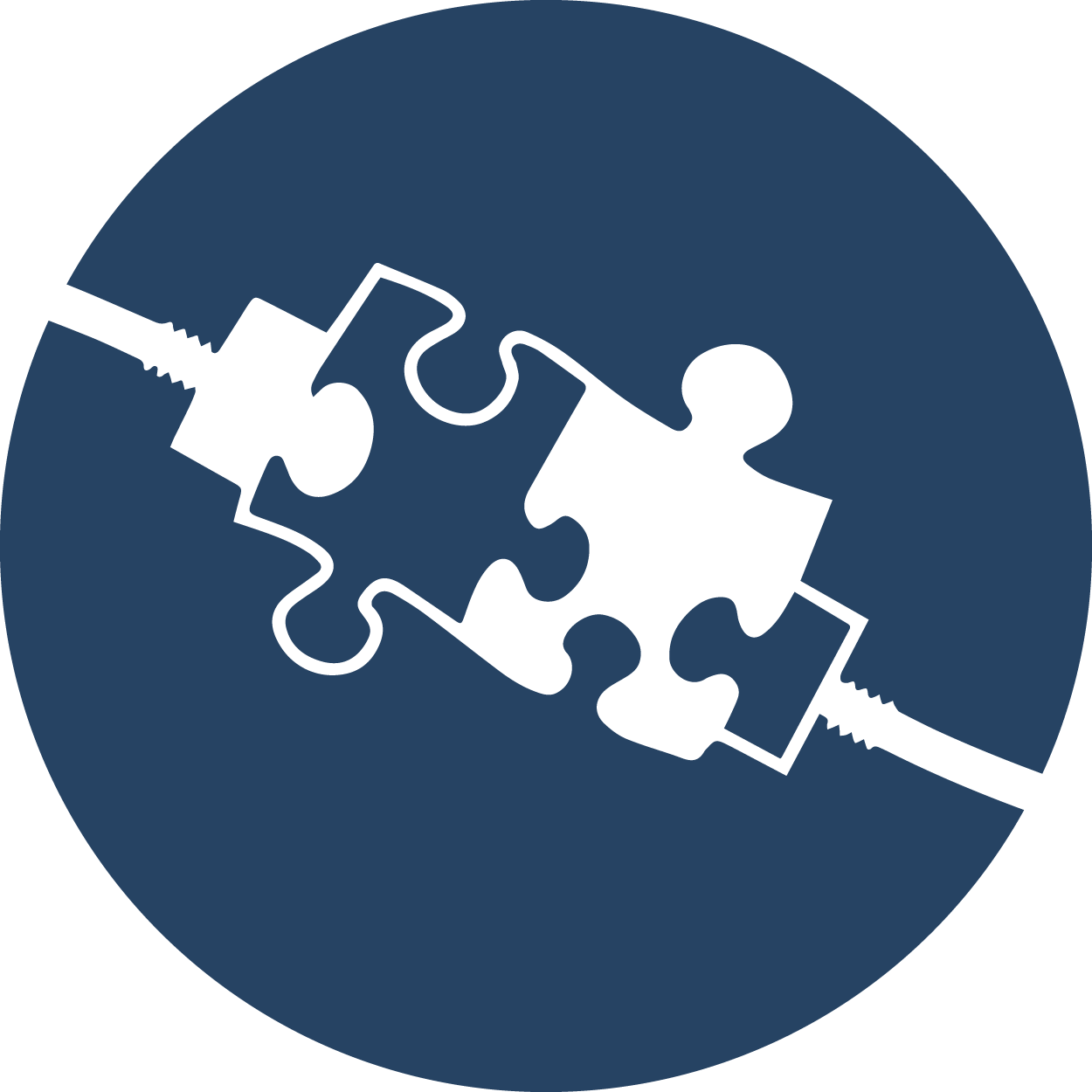 Two connected puzzle pieces