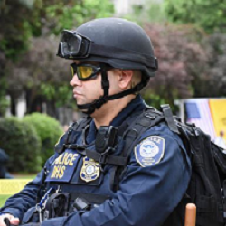 FPS Officer looks into the distance.