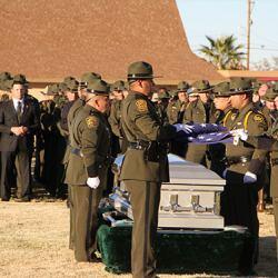 Border Patrol Agent Martinez is laid to rest