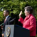 Secretary Napoltiano Administers Oath at Rose Garden (HQ)