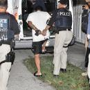 ICE officials arrest a criminal alien